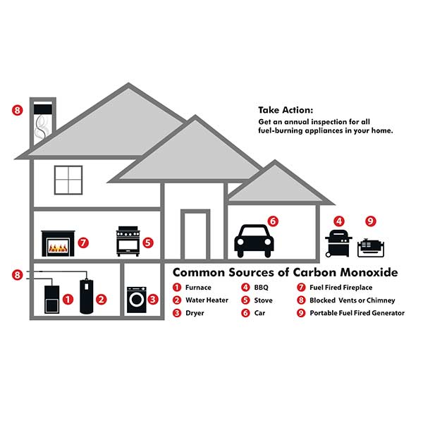 Carbon Monoxide Alarm diagram